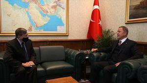 Milli Savunma Bakanı Hulusi Akar, ABDnin Ankara Büyükelçisi Satterfieldı kabul etti