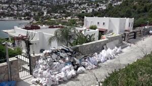 Özdilin villasındaki kaçak kısımların yıkımı sürüyor