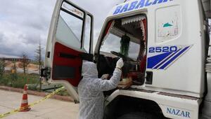 Kamyon sürücüsü, koronavirüs şüphesiyle hastaneye kaldırıldı