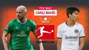 Bundesligada 29 maç haftasını noktalıyoruz Erteleme maçında Frankfurtun iddaa oranı...