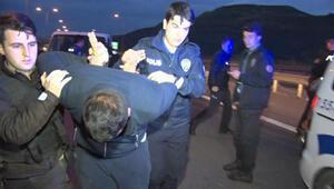 Başakşehirde polisle şüpheliler arasında kovalamaca: 4 gözaltı