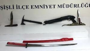 Şişlide silahlı kavga; 1 yaralı 4 gözaltı