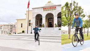 Dünya Bisiklet Gününde validen pedala kuvvet