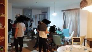 Lüks villaya kumar baskını: 23 kişiye para cezası