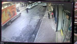 Küçükçekmecede su saatlerini çalan hırsızı kovalayan kadın kamerada
