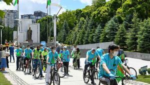 Bisiklet Günü'nde pedal çevirdiler