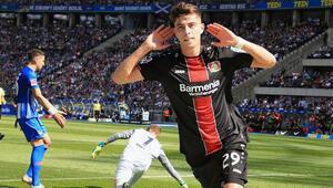 Alman futbolunun yeni yıldızı Kai Havertz...