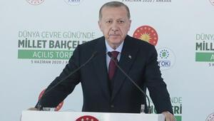 Cumhurbaşkanı Erdoğan, Millet Bahçelerinin açılış töreninde konuşuyor