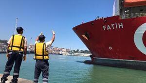 Fatih Sondaj Gemisi, Trabzon Limanına yanaştı