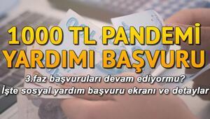 1000 TL yardım PTTden nasıl alınır.. Sosyal yardım 3. faz E-Devletten başvuru yapılır mı İşte 1000 TL pandemi yardımı detayları
