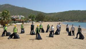 Akkuyu çalışanlarından çevre temizliği
