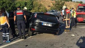 TEMde korkunç kaza 3 ölü, 1 yaralı