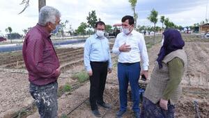 Karatayda hobi bahçelerinde ekim telaşı