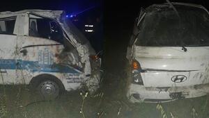 Yoldan çıkan kamyonet takla attı: Ölü ve yaralılar var