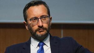 İletişim Başkanı Altun, Güney Kıbrısta camiye Bizans bayrağı asılmasını kınadı