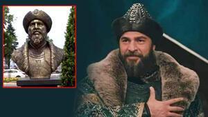 Engin Altan Düzyatana benzeyen Ertuğrul Gazi büstü nedeniyle 2 yönetici görevden alındı