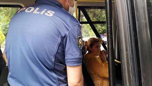 Polisi görünce ağzını hırkayla kapattı, cezadan kaçamadı