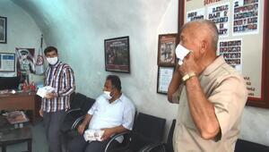 Midyatta güvenlik korucularına maske dağıtıldı