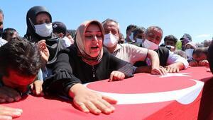 PKKnın şehit ettiği işçiler, son yolculuklarına uğurlandı
