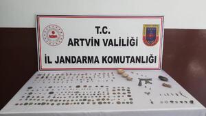 Artvin'de izinsiz kazıya 8 gözaltı