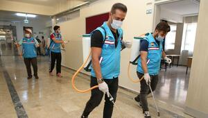 İlçedeki 36 okul dezenfekte edildi