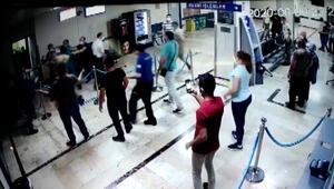 Sağlık çalışanına darp güvenlik kamerasında