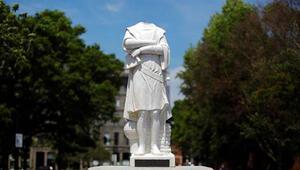 ABDdeki protestolarda heykel saldırısı: Başsız Kristof Kolomb
