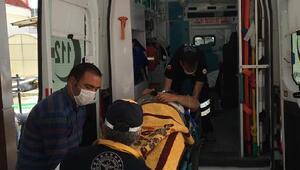 Direkten düşen işçi yaralandı