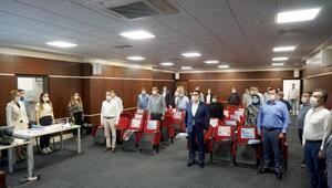 Marmara Ereğlisinde, sosyal mesafeli meclis toplantısı