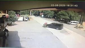 Tekirdağ'daki feci kaza kamerada