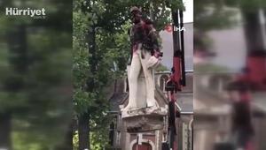 Belçikada sömürgeci Kral 2. Leopoldun bir heykeli daha tahrip edildi