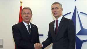 Bakan Akar, NATO Genel Sekreteri Jens Stoltenberg il görüştü
