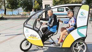 Beykoz'da bisiklet taksi dönemi
