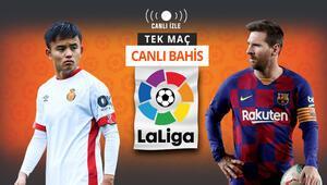 Kubo, Messiye karşı Barcelonaya Mallorca deplasmanında verilen iddaa oranı...