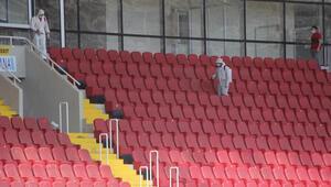 Sivas 4 Eylül Stadı dezenfekte edildi