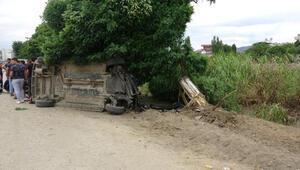 Otomobil dut ağacına çarptı: 2 yaralı