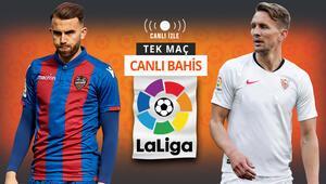 Derbiden zaferle ayrılan Sevilla, Levante karşısında da kazanmak istiyor Galibiyetlerine iddaada...