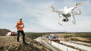 Dronelar inşaat sektörüne de fayda sağlıyor
