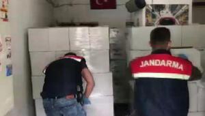 Ataşehirde jandarmanın kaçak alkol operasyonu kamerada 8 ton ele geçirildi