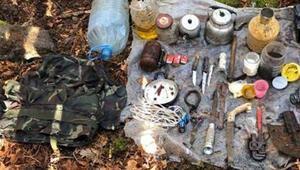Amanos Dağlarında, teröristlerin kullandığı sığınak bulundu
