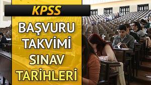 KPSS başvuruları ne zaman yapılacak 2020 KPSS Lisans Önlisans Ortaöğretim başvuru tarihleri