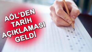 AÖL 2. dönem sınav takvimi    Açık lise sınavları ne zaman yapılacak