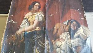 Tokatta tarihi eser olduğu değerlendirilen tablo ele geçirildi