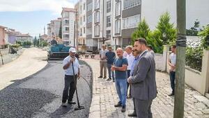Başkan Bekler, asfalt çalışmalarını yerinde inceledi