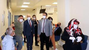 Eskişehir Sağlık Müdürü Bilge, hastanelerde 'normalleşmeyi' inceledi