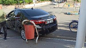 Gercüşte hafif ticari araç ile otomobil çarpıştı