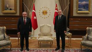 Cumhurbaşkanı Erdoğan TBMM Başkanı Şentopu kabul etti