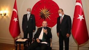 Cumhurbaşkanı Erdoğan, BM Daimi Temsilcisi Sinirlioğlu ile görüştü