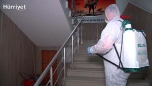 LGS ve YKS için okullar dezenfekte ediliyor