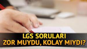 LGS sınav yorumları: LGS 2020 soruları nasıldı, zor muydu İşte LGS yorumları